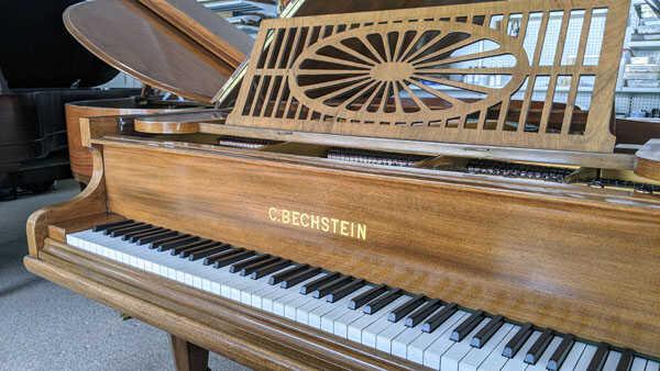 """Elegant C. Bechstein A 6'2""""  85-note grand"""