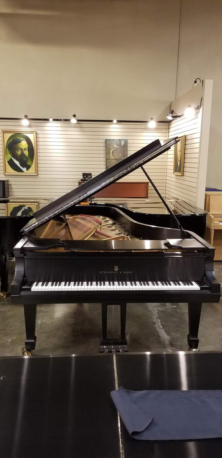 Steinway 1916 D 9' Concert Grand In Satin Ebony