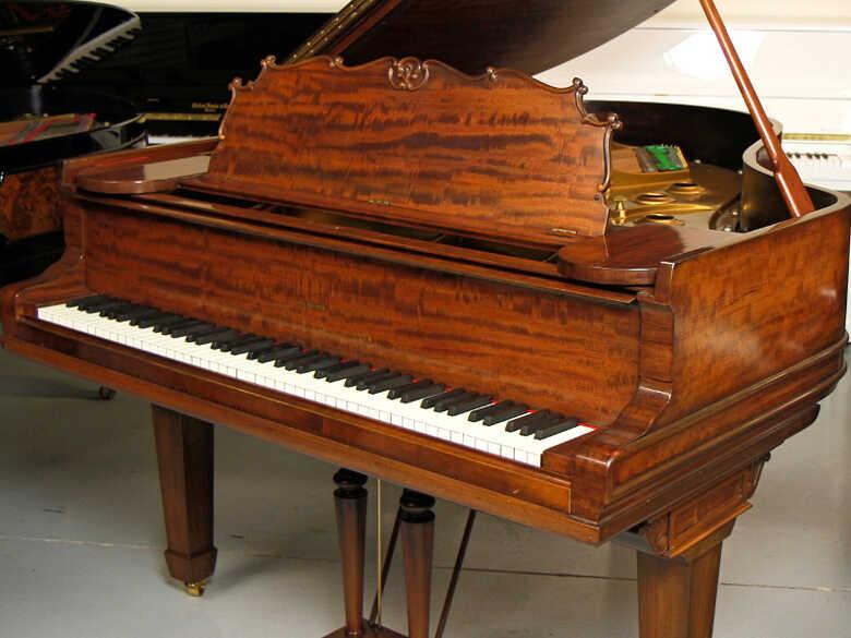 Chase Flared Mahogany Artcase Piano - FREE Shipping!
