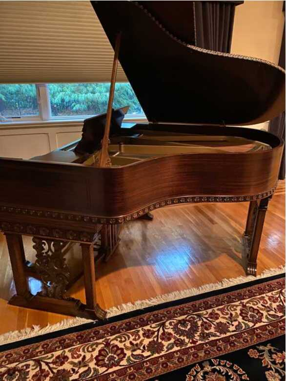 "Marshall & Wendell Antique Baby Grand Piano.  66""  Original"