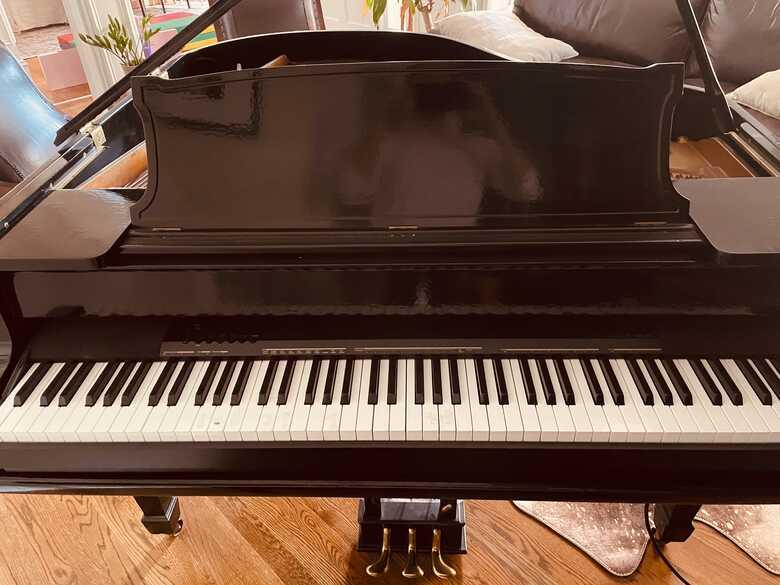 Edward P. Mason Baby Grand Piano + Electronic Keyboard