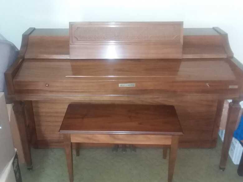 Baldwin Acrosonic Spinet Piano with Matching Bench