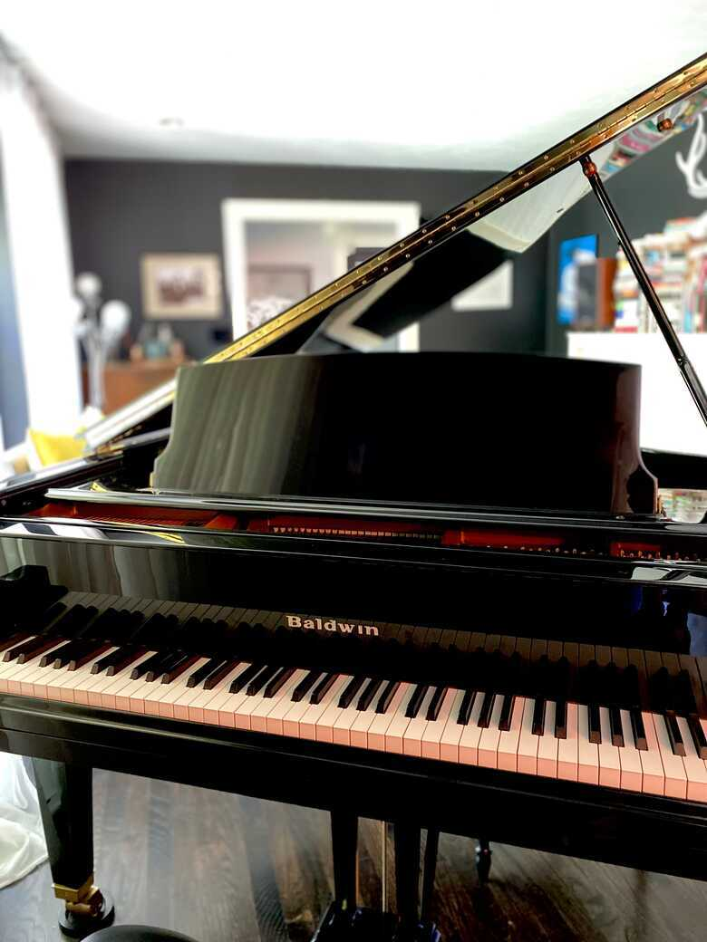 Grand piano given for a give away price