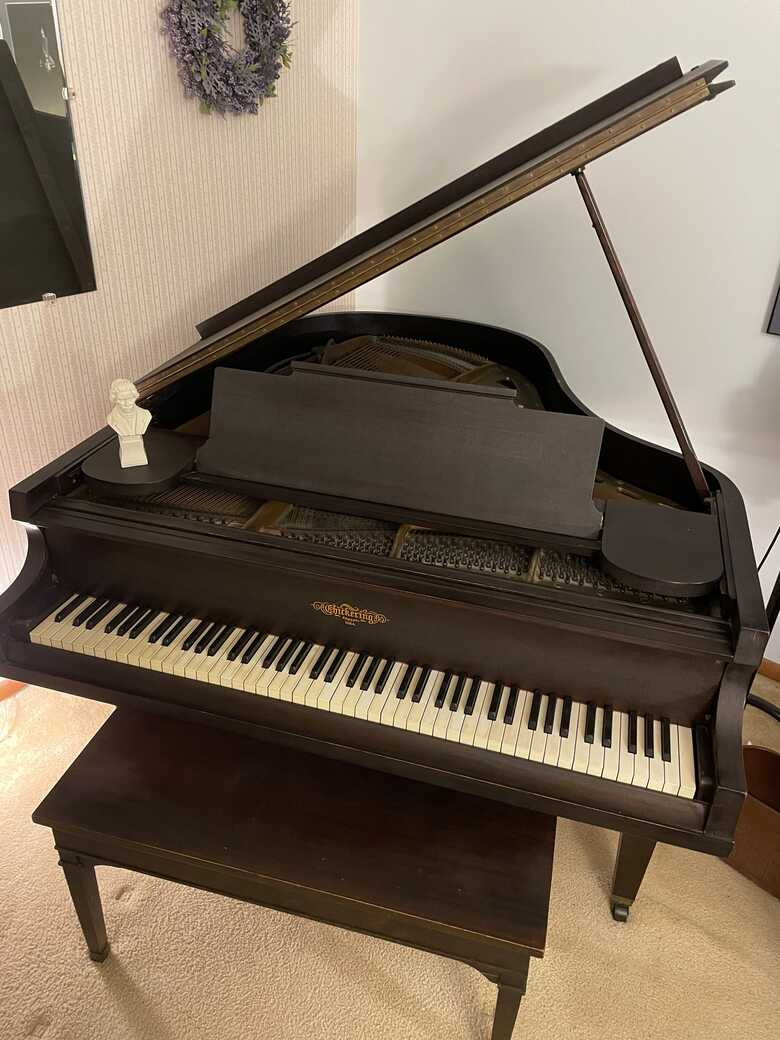 Antique Chickering with Perfect Ivory Keys