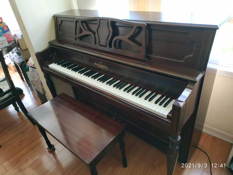 2016 Wm. Knabe 43 Inch Upright Piano