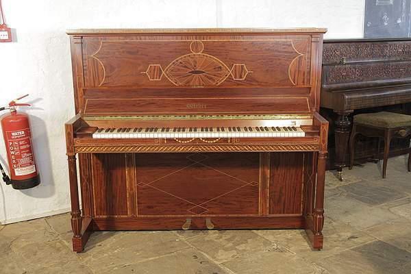 Neoclassical inlaid, Weber upright piano
