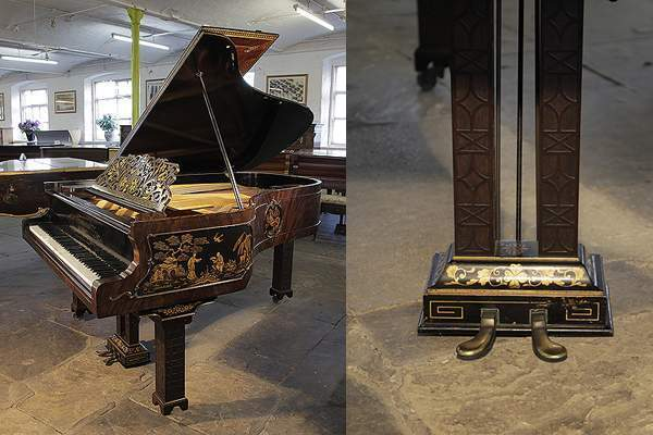 Chinese Chippendale style, 1899, Schiedmayer grand piano