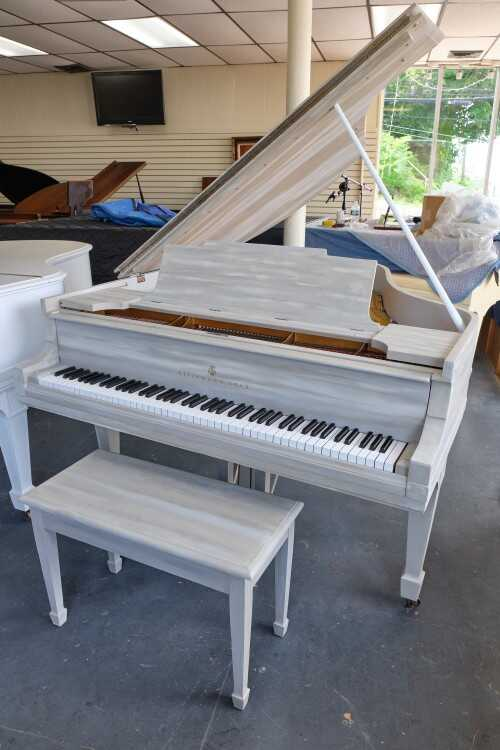 Driftwood Steinway M, Rebuilt/Refinished 2021, Hand Painted