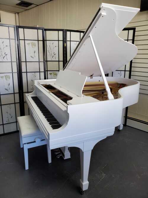"""White Steinway M (5'7"""") Totally Rebuilt & Just Refinished"""