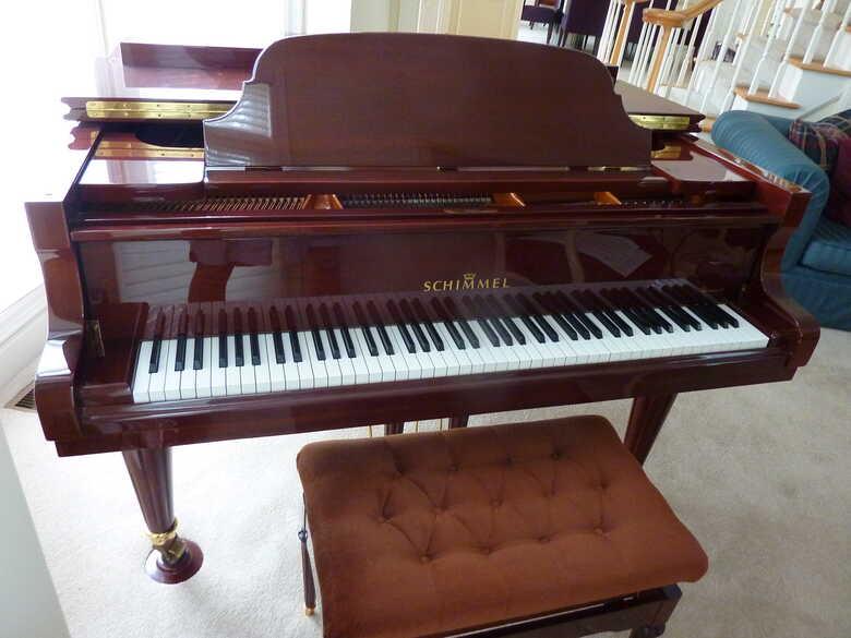 Beautiful Sounding and Looking Schimmel Piano