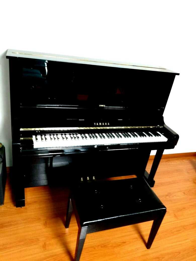 """Yamaha U3 52"""" Upright piano with silent system / quiet time"""
